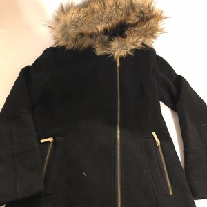 a3c970e1a Michael Kors · Micheal Kors Women's Faux Fur Hooded Black Coat